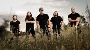 All That Remains lineup (from left to right): Jeanne Sagan (bass, backing vocals), Oli Herbert (lead guitar), Phil Labonte (lead vocals), Jason Costa (drums), Mike Martin (rhythm guitar) - photo courtesy of Blabbermouth.net