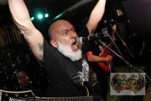 "Chris ""OJ"" Ojeda (vocals, rhythm guitar) of Byzantine, live at Fubar in St. Louis, MO; Friday, March 20, 2015 [Photo credit: Nick Licata]"