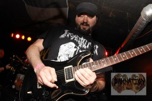 Brian Henderson (lead guitar, vocals) of Byzantine, live at Fubar in St. Louis, MO; Friday, March 15, 2015 [Photo credit: Nick Licata]
