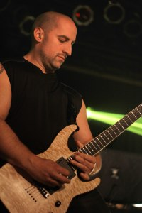 Mike Martin (guitar, All That Remains) live at Pop's - May 1, 2015 [photo by Nick Licata]