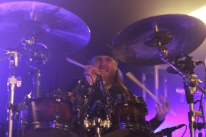 Mike Martin (drums, All That Remains) live at Pop's - May 1, 2015 [photo by Nick Licata]