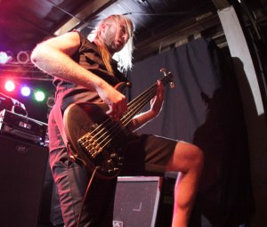 Battlecross bassist Don Slater at Pop's on September 11, 2015 [photo by Nick Licata]