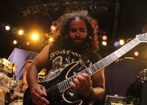 Battlecross guitarist Hiran Deraniyagala at Pop's on September 11, 2015 [photo by Nick Licata]