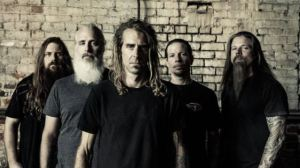 Lamb Of God lineup (left to right): Mark Morton [lead guitar], John Campbell [bass guitar], Randy Blythe [vocals], Willie Adler [rhythm guitar], Chris Adler [drums] - image courtesy of Epic Records and Nuclear Blast Records (2015)