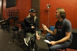 Warrel Dane (vocals, Sanctuary, ex-Nevermore) with Damnation Magazine's Matt Albers at Fubar on Sunday, October 11, 2015 [photo by Nick Licata]