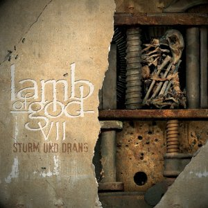 Lamb Of God - VII: STURM UND DRANG album cover art (2015) - image courtesy of Epic Records / Nuclear Blast Records (2015)