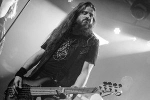 Rob van der Loo (bass; 2022-present) of Epica, live at The Ready Room in St. Louis, MO - photo credit: Nick Licata [2016]