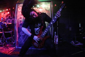 Cryptopsy bassist Olivier Pinard (2012 - present) live at The Ready Room in St. Louis, MO on Tuesday, February 16 while on tour with Cannibal Corpse, Obituary, and Abysmal Dawn