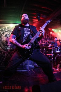 Cryptopsy lead/rhythm guitarist Christian Donaldson (2005 - present) live at The Ready Room in St. Louis, MO on Tuesday, February 16 while on tour with Cannibal Corpse, Obituary, and Abysmal Dawn