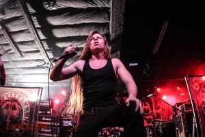 Cryptopsy vocalist Matt McGachy (vocals, 2008 - present) live at The Ready Room in St. Louis, MO on Tuesday, February 16 while on tour with Cannibal Corpse, Obituary, and Abysmal Dawn - image credit: Nick Licata (2016)