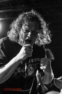 "Voivod vocalist Denis ""Snake"" Bélanger(1982–1994, 2002–present) live at The Firebird in St. Louis, MO on Sunday, February 2016 - image courtesy: Nick Licata (2016)"