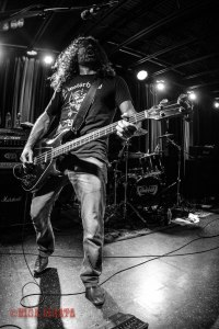 "Voivod bassist Dominique ""Rocky"" Laroche (2014-present) live at The Firebird in St. Louis, MO on Sunday, February 2016 - image courtesy: Nick Licata (2016)"