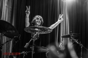 "Voivod drummer Michel ""Away"" Langevin (1982-present) live at The Firebird in St. Louis, MO on Sunday, February 2016 - image courtesy: Nick Licata (2016)"