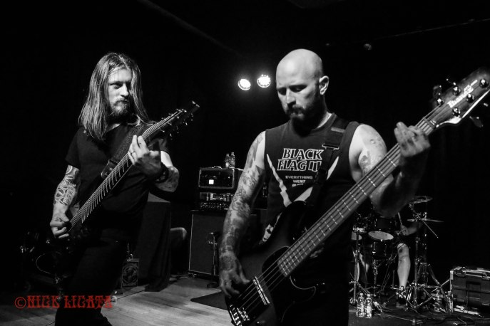 Devil You Know bassist Ryan Wombacher (formerly of Bleeding Through) performing live at Fubar in St. Louis, MO on Wednesday, April 27 - image cre