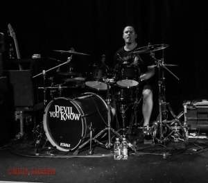 Devil You Know drummer John Boecklin (formerly of DevilDriver) performing live at Fubar in St. Louis, MO on Wednesday, April 27 - image credit: Nick Licata