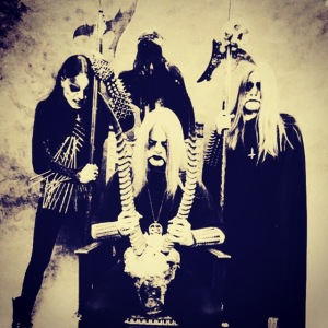 "Satyricon band lineup (NEMESIS DIVINA-era) [left to right]: Kjetil-Vidar ""Frost"" Haraldstad (drums), Sigurd ""Satyr"" Wongraven (vocals, lead guitar, bass guitar), Ted ""Kveldulv/Nocturno Culto"" Skjellum (rhythm guitar) - image courtesy of Napalm Records"