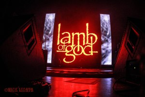 Lamb of God stage - live at The Pageant in St. Louis, MO on Thursday, May 12 [photo credit: Nick Licata]