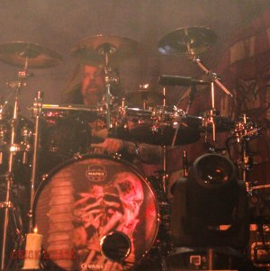 Lamb of God drummer Chris Adler - live at The Pageant in St. Louis, MO on Thursday, May 12 [photo credit: Nick Licata]