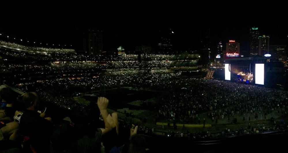 Panorama of Paul McCartney @ Busch Stadium